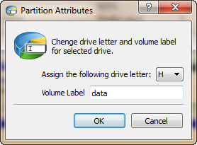 Assign the following drive letter